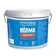 Грунтовка стирол-акрилатная Контакт Волма, 5 л