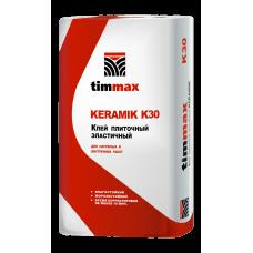 Клей плиточный эластичный KERAMIK K30, 20/25 кг